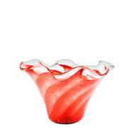 Fruteira de murano san marino vermelha 19 cm