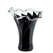 Vaso de murano san marino preto 28 cm