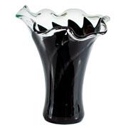 Vaso de murano san marino preto 32 cm