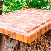 Tábua retangular Teca invertida Supreme 44x29,5 cm