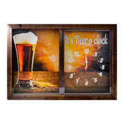 Quadro porta tampinha/ relógio Beer 34 x 49 cm