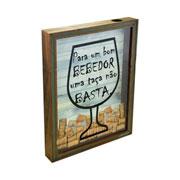 Quadro porta rolhas de madeira basta 37x27 cm