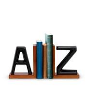 Aparador de livros em cerâmica Preto A Z
