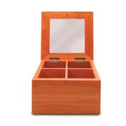 Caixa porta chá de bambu Tyft 04 divisórias
