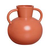 Vaso de argila terracota fosco 22x27 cm