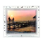 Porta retrato de vidro astros horizontal 25x20 cm