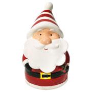 Pote com tampa de porcelana Papai Noel 17 cm