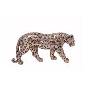 Enfeite em resina Leopardo rose 27x05x13 cm