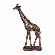 Enfeite em resina Girafa Rose 49 cm