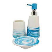 Jogo para banheiro em cerâmica colors 03 peças