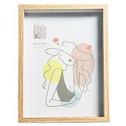 Porta retrato de madeira caixa 20x25 cm