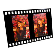 Porta retrato de vidro filme vertical 02 fotos 10x15cm