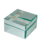Porta joia de vidro espelhado 10cm