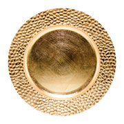Sousplat craquelado ouro 33 cm