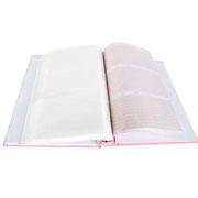 Álbum baby rosa primeiro ano para 100 fotos 15x21