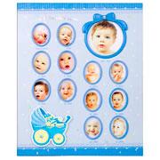 Álbum baby azul primeiro ano para 100 fotos 15x21