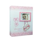 Álbum Bebê rosa para 200 fotos 10x15 cm