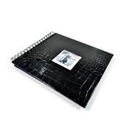Álbum scrapbook preto 15x21 cm para 20 fotos