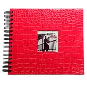 Álbum scrapbook craquelado rosa 15x21 cm para 20 fotos