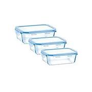 Jogo de potes herméticos de vidro lock 03 peças