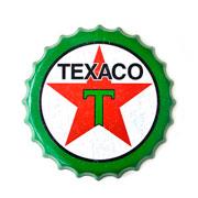 Placa tampa de metal Texaco 40 cm