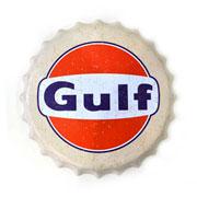 Placa tampa de metal Gulf 40 cm