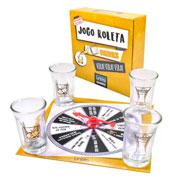 Jogo roleta drinks com 04 shots