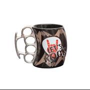 Caneca de cerâmica soco inglês lets rock 350 ml