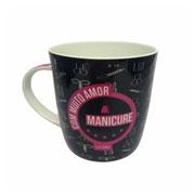 Caneca de cerâmica Profissão Manicure 390 ml