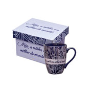 Caneca de cerâmica Mãe Melhor do mundo 390 ml