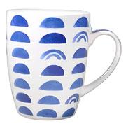 Caneca de porcelana estampada Azul colors 350 ml