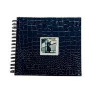 Álbum scrapbook craquelado azul 15x21 cm para 20 fotos