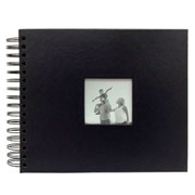 Álbum scrapbook preto 33x30 cm para 20 fotos