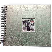 Álbum scrapbook craquelado prata 33x30 cm para 20 fotos