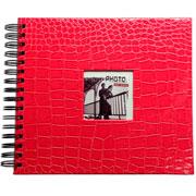 Álbum scrapbook craquelado pink 33x30 cm para 20 fotos