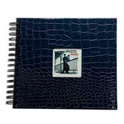 Álbum scrapbook craquelado azul 33x30 cm para 20 fotos