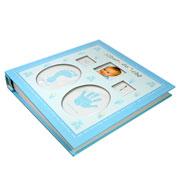 Álbum de bebe dentinho azul para 60 fotos 15x21 cm