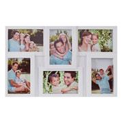 Quadro branco para 6 fotos 10 x 15 cm