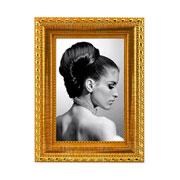 Porta retrato moldura dourada 10x15 cm