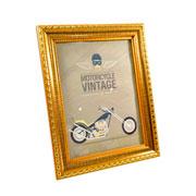 Porta retrato moldura dourada 15x20 cm