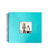 Álbum scrapbook azul 15x21 cm para 20 fotos
