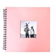 Álbum scrapbook rosa 33x30 cm para 20 fotos