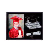 Porta retrato de vidro formatura 10x15 cm