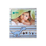 Porta retrato de aluminio Dinossauro azul 10x15