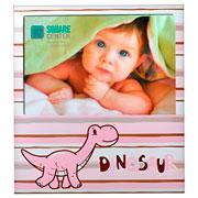 Porta retrato de aluminio Dinossauro rosa 10x15