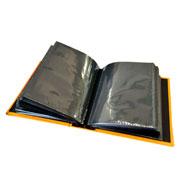 Álbum amarelo c/ visor 100 fotos 10x15 cm