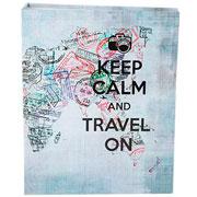 Álbum Keelp calm and travel para 100 fotos 10x15 cm
