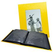 Álbum amarelo c/ visor 200 fotos 10x15 cm