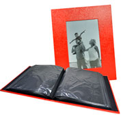 Álbum vermelho c/ visor 200 fotos 10x15 cm