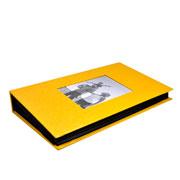 Álbum amarelo c/ visor para 300 foto 10x15 cm